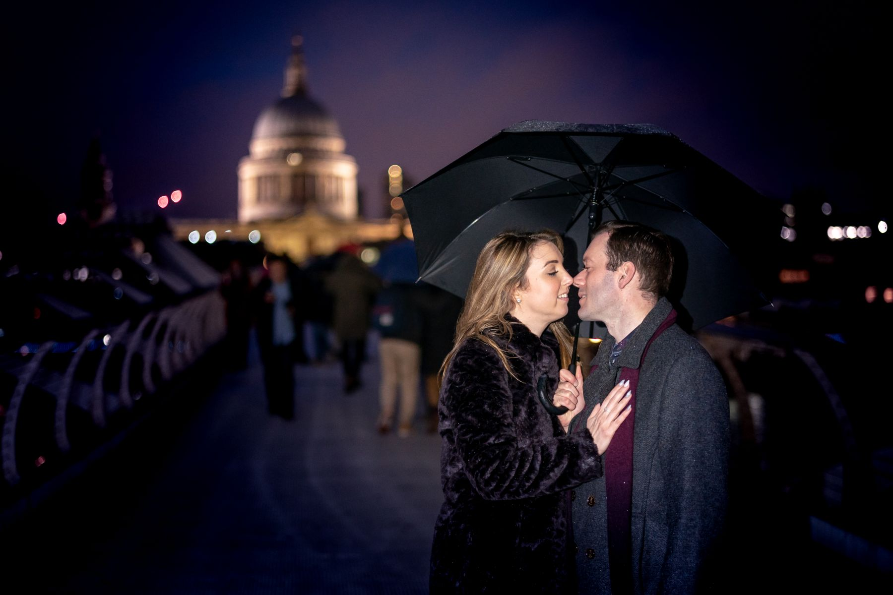 YFFUK Phil Endicott Fenwick Millennium Bridge London engagement shoot St Pauls