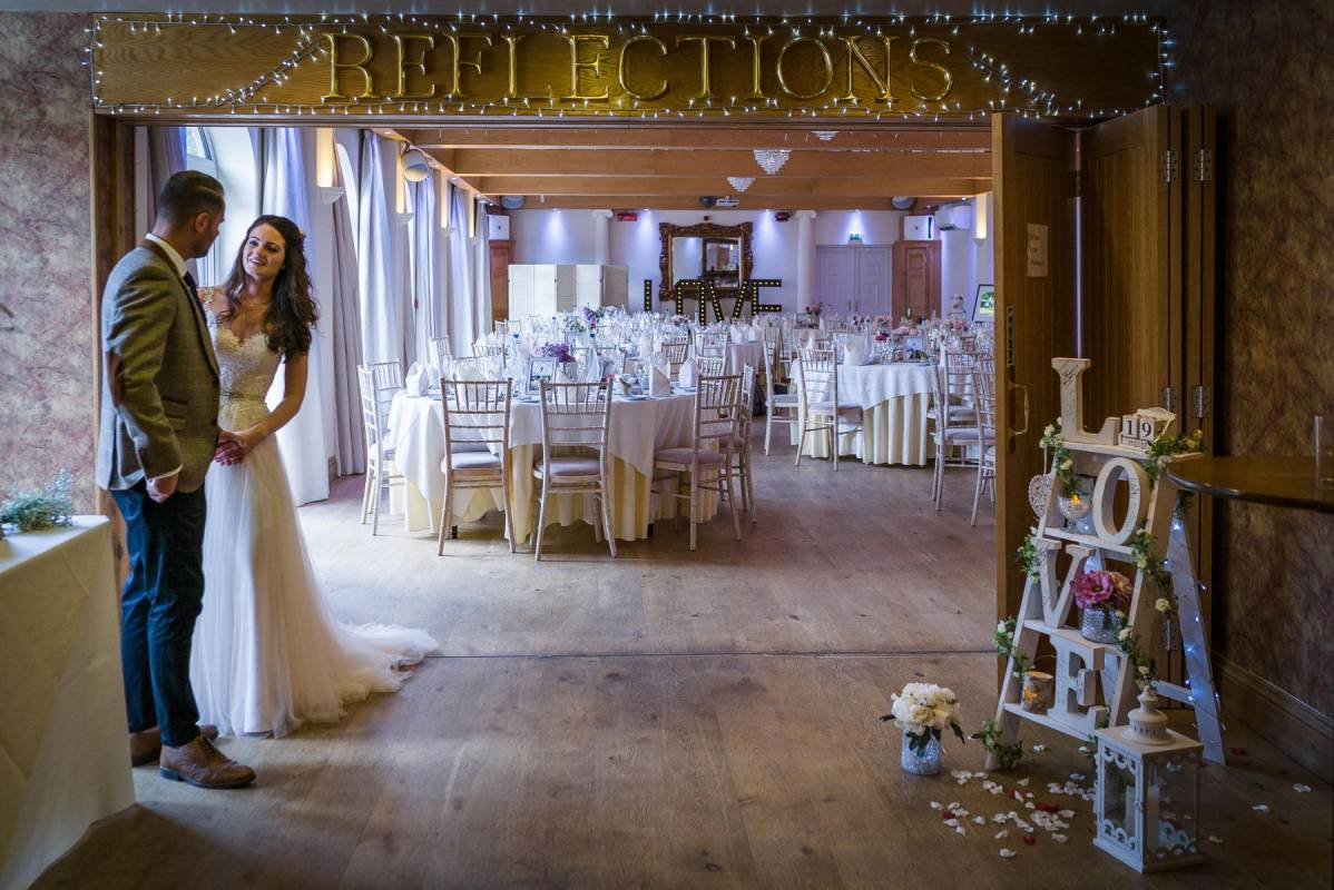 YFFUK Phil Endicott Johnson Stanwick Hotel Courtyard Northamptonshire just the two of you waiting for the guests to arrive