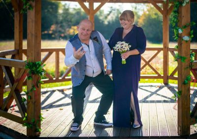 YFFUK Your Favourite Frame Weddings Photography Powell Grovefield House Hotel Burnham Slough bride and groom in the pagoda being themselves smiles purple wedding dress