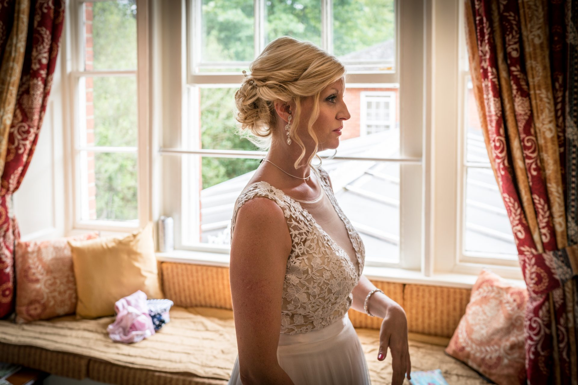 YFFUK Phil Endicott Murray Best Western Moore Place Hotel Aspley Guise bride getting ready to say her vows