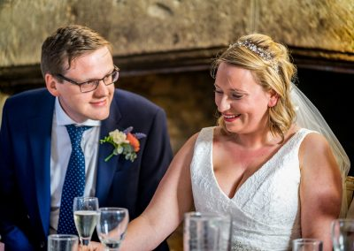 YFFUK Phil Endicott Newell The Bede House Higham Ferrers Northamptonshire newly married at wedding breakfast