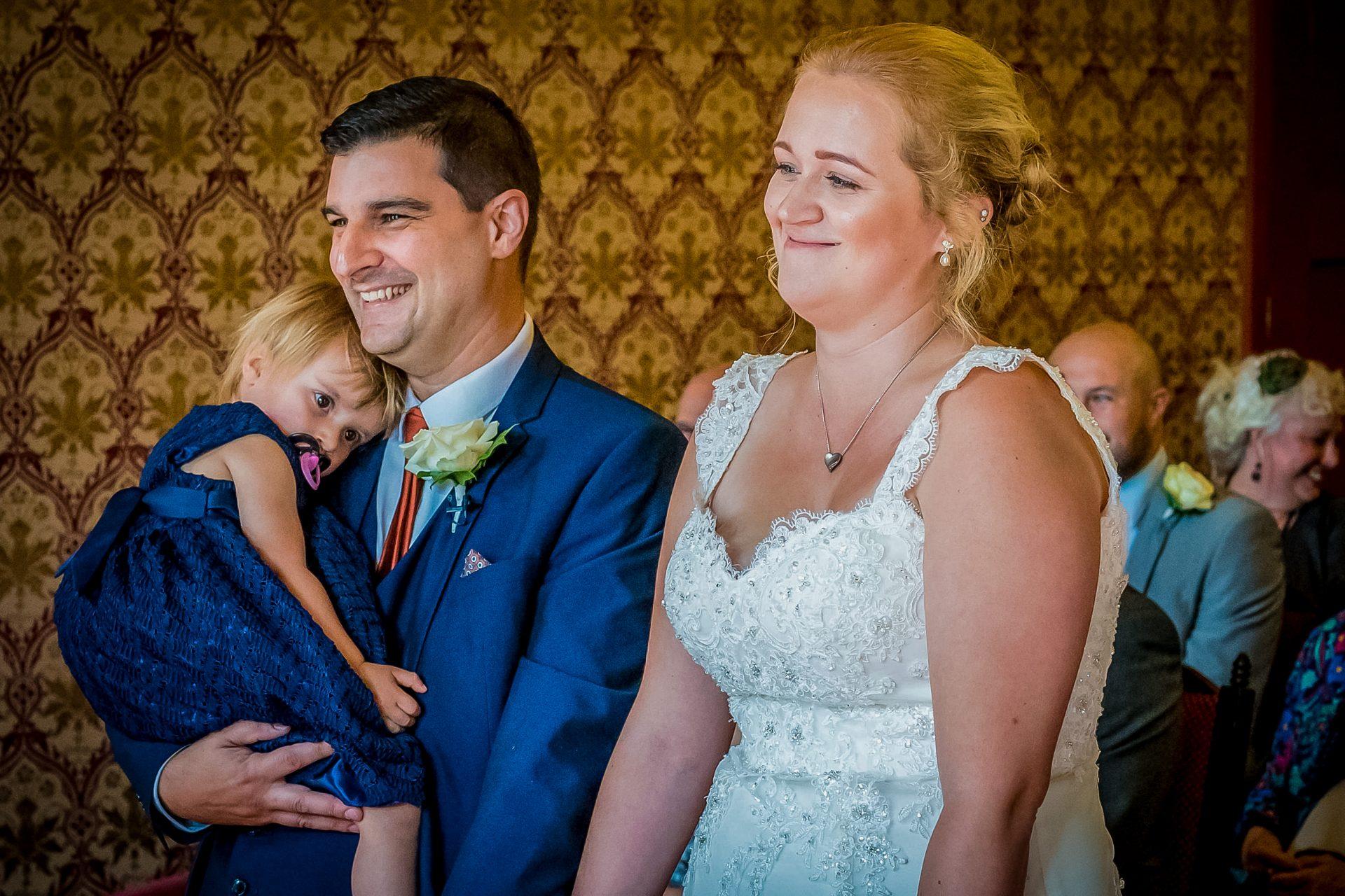 YFFUK Phil Endicott Sharpe Guildhall Northampton Northamptonshire bride recoiling at grooms joke