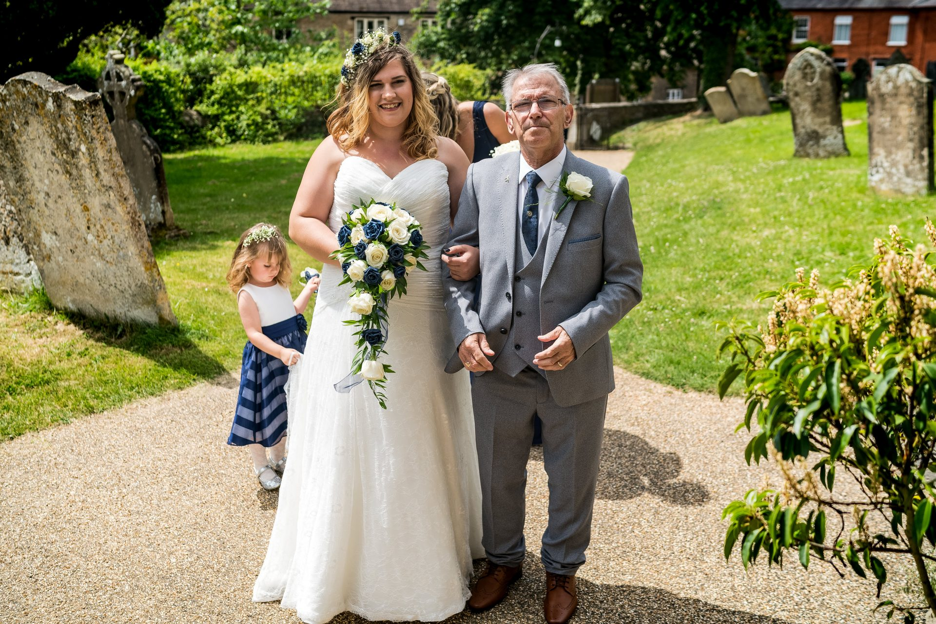 YFFUK Phil Endicott Zilka Geddington St Mary Magdalene Church Northants proud father walking his daughter to her wedding