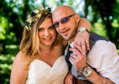 YFFUK Phil Endicott Zilka Holiday Inn Corby wedding day smiles in the garden