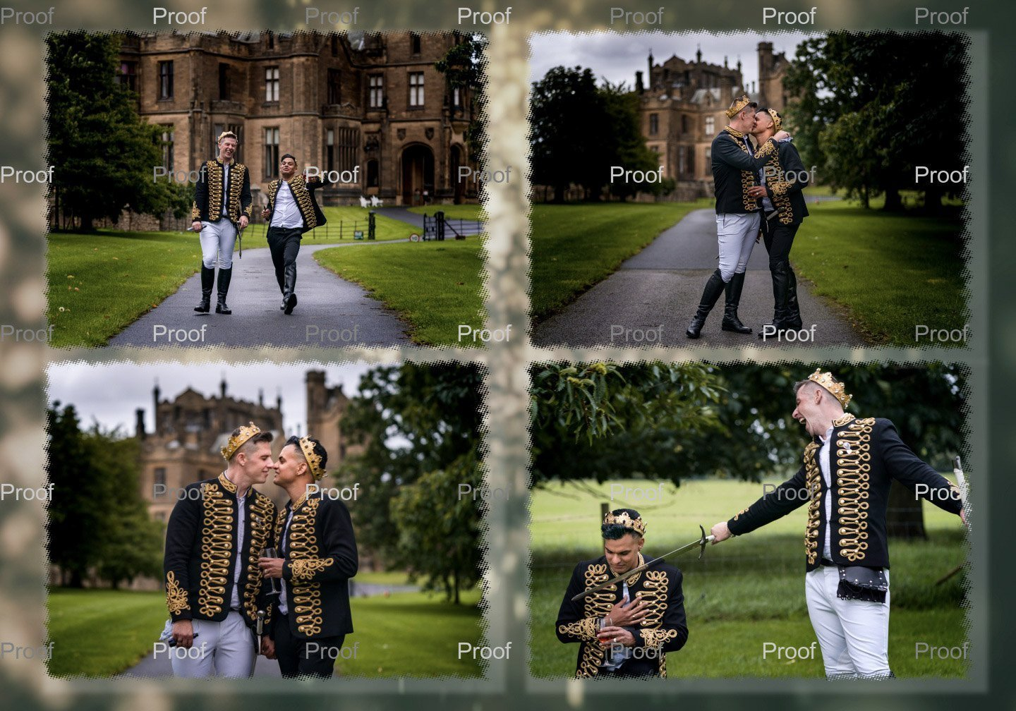 YFFUK Phil Endicott Hutchinson wedding albums a look inside from Allerton Castle Knaresborough22