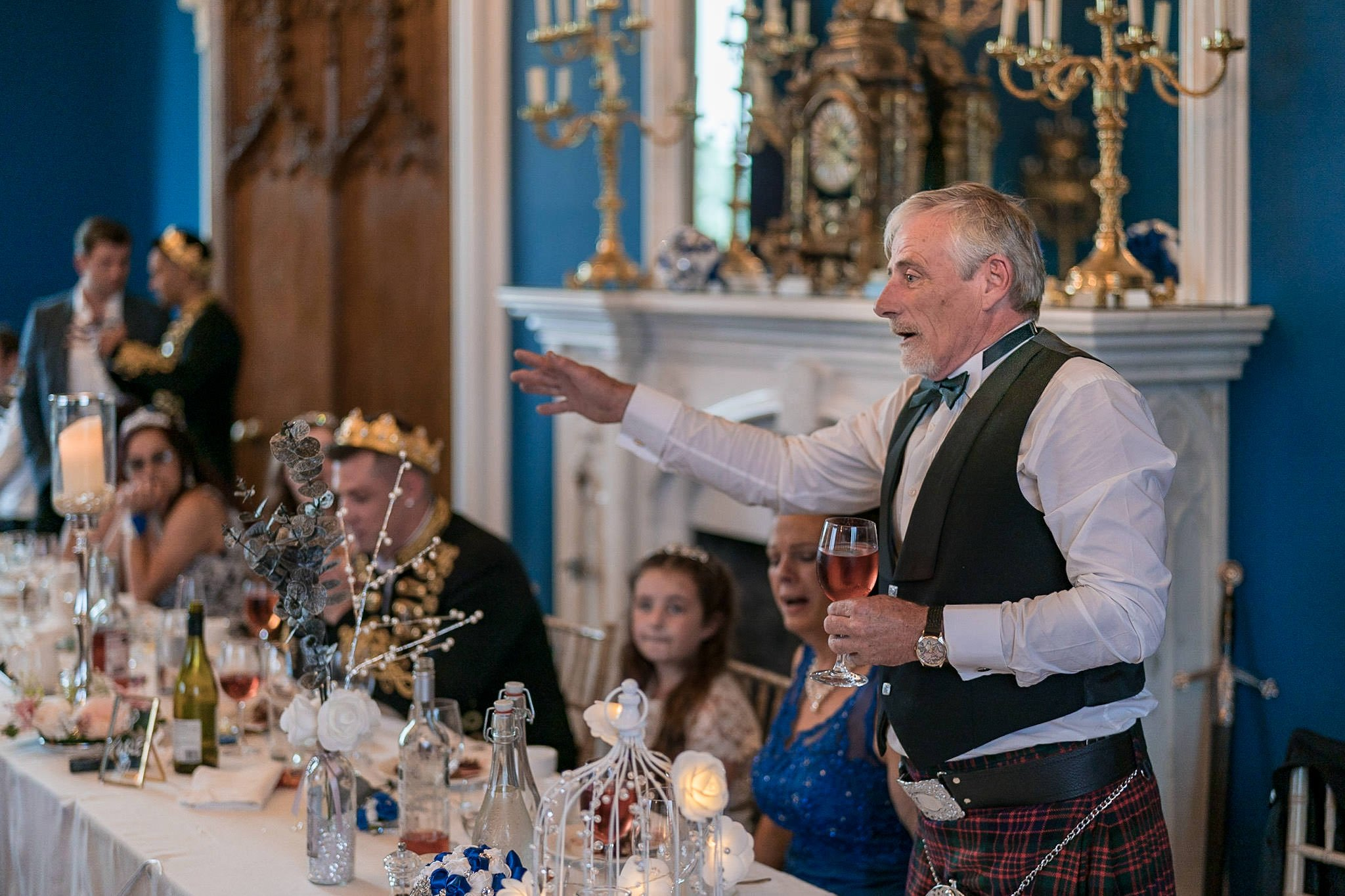Allerton Castle Knaresborough Hutchinson Weddings Photography father of the groom giving his speech