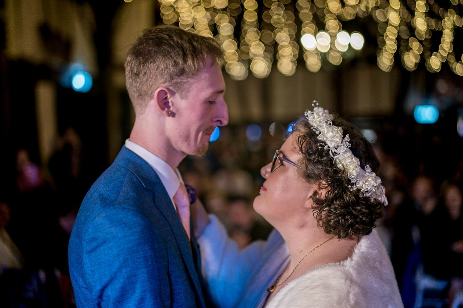 The Barns Hotel Bedford Wooten Weddings Photography Bride and groom during first dance